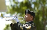 1SG (RET) Ernie Mazurkiewicz played taps at the memorial service for SFC Lawrence David Ezell held...
