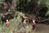 Larimer County Dive Rescue Team and Poudre Fire Authority responded to the area of the Poudre...
