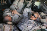 03/27/2005 Camp Udairi- SSG Justin Vasquez, 26, right, of Manzanola, Colo., a member of 3rd...