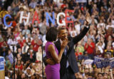 RENEE JONES SCHNEIDER • reneejones@startribune.com St. Paul, MN – 6/3/08 ] Sen. Barack Obama and...
