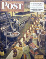 EJ116 Cover of the March 25, 2950 Saturday Evening Post, by artist Steven Dohanos.  He used a...
