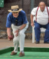 John Delaura (cq) throws as Clyde Archer (cq) watches during the annual Rocky mountain Italian...