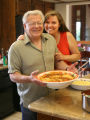 EJ616 Julie Balistreri and her dad, John Balistreri, with Balistreri Vineyards in Denver,  make...