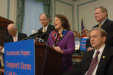 Washington, May 24, 2005_ left to right, Reps. Christopher Shays, R-Conn., Mike Castle, R-Del.,...