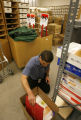Phillip Barron (cq) packs his possessions at the storage room at the Denver Clerk's office on...