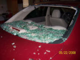 These pictures were taken of my car which suffered a fair amount of hail damage as a result of the...