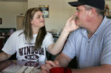 Kelley and Jay Sperry share a special father and daughter moment while eating out.  Kelley Sperry...