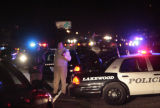 Police lock down an area near the Denver / Lakewood border Tuesday night, where a man is believed...