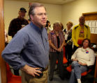 PHOTO BY CHRISTOPHER TOMLINSON--GOP Senate candidate Bob Schaffer makes a stop at the Grand...