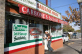 Tony Carbone, Rose and Nick's son, at Carbone's Sausage Market and Deli on October 24, 2008....