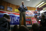 United States Senate candidate Bob Schaffer (cq) speaks with supporters at the County Republican...