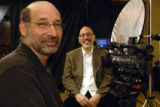 FilmMakers_30_JF (left to right) Film makers Mark Birnbaum and Manny Mendoza visit the ASNE...