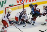 DM5231  NHLxxxAvsxxBluexxxJacketsxx55445 Columbus Blue Jackets goalie Fredrik Norrena denies...