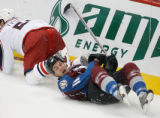 DM5368  NHLxxxAvsxxBluexxxJacketsxx55445 Colorado Avalanche center Cody McCormick #11 hits the ice...