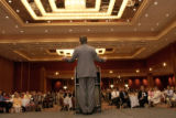 Mayor John Hickenlooper gestures and makes a point during his speech to the group. He discussed...