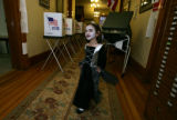 At the Gilpin Cty Courthouse, Sarah Trujillo, 6 is Halloween ready in her mix of witch/vampire...