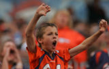 (CS1062) A young fan boos the refs after Brandon Marshall was called with offensive pass...