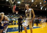 NCSD206 - Duke's Kyle Singler (12) celebrates as he leaves the court after an NCAA men's college...