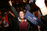 (CS0175) Obama supporters celebrate the election of Barack Obama as the new president of the U.S....