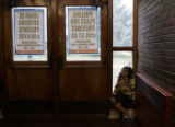 CODER113 - Astra Megyesi, 5, waits for the polls to open at Stedman Elementary School in Park Hill...