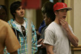 Students who must fill out provisional ballots, wait in line at the Lory Student Center at CSU in...