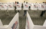 Voters, mostly  CSU student, votes at the Lory Student Center at CSU in Ft. Collins, CO  Tuesday...