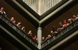 (PG2397) People watch from the upper balconies of the Brown Palace Hotel during the 21st Annual...