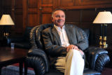 Rep. Tom Tancredo is photographed in his office in the Rayburn House Office Building on Thursday,...