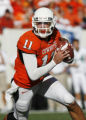 Zac Robinson quarterback keeper at the Oklahoma State University (OSU) college football game with...