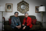 DM0431  Lena Archuleta and Dora Valdez pose for a photograph in Denver Tuesday Nov. 25, 2008. wo...
