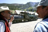 Don Abbott, cq, 57, a conductor for the Georgetown Loop Railroad and Dan Adler, cq, engineer...