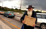 Leerie Tagney worked the off-ramp from northbound I-25,  exit 161 at Monument, where he makes...