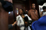 (PG16417) Monica and Derrick Owens reacts to the verdict of the death penalty trial of their son...