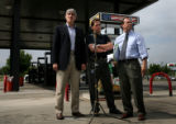 (PG16291) U.S. Reps Mark Udall (left) and Ed Perlmutter hold a press conference about foreign oil...