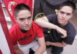 (L-R) Eighteen year old identical twins, Ryan (cq) and Matt Mobley (cq), from Highlands Ranch,...