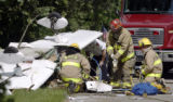 Scene of a small plane crash in West Carrolton Wednesday June 17. Staff photo by Lisa Powell