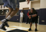 (072)  The Denver Nuggets Strength and Conditioning Coach Steve Hess cheers on a St. Joseph's...