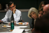 (PG00237) Federico Pena listens during discussion between the school district and the teacher's...