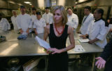 Andrea Robinson conducts her workshop with the kitchen staff at the Colorado Convention Center on...