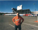 Joe Iacino, a big supporter of Denver sports, stands in front of his fleet of soft drink trucks at...
