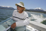 DM0132  Sammy Toys, 62, cruises on his boat on the waters of Lake Dillon in Dillon, Colo. Monday...