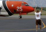 DM0149  Mark Michelsen, base manager at the U.S.D.A. Forest Service Air Tanker Base at Rocky...