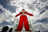Greg Houston (cq), 26, stands on the lifeguard booth at Aurora Reservoir on Thursday, June 26,...