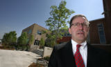 Bill Hornaday, President of Weitz, stands in front of his new building for Planned Parenthood in...