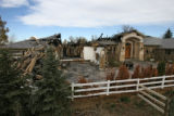 Tis is the scene of a burned out home,Thursday afternoon, November 13, 2008, 5301 S. University...