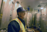 Brewing manager Tim Murphy in the yeast room at the Miller Brewing Co. in Milwaukee on Nov. 12,...