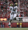#3 Jimmy Smith celebrates with #4 Patrick Williams (cq) both of Colorado during the 2nd half of...