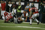 BroncosAtFalcons55712  Wide receiver, Brandon Stokley, pulls in a pass at the Georgia Dome in...