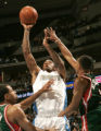 0277 Denver Nuggets guard J.R. Smith #1 takes one to the hoop against the Milwaukee Bucks in the...