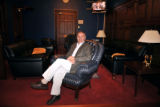 Rep. Tom Tancredo sits in his Capitol Hill office on Thursday, Nov. 20, 2008 in Washington....